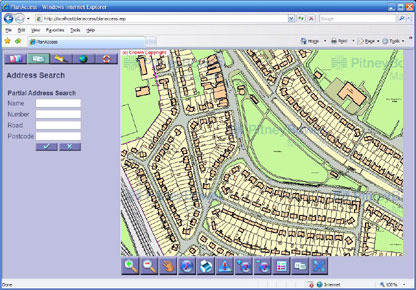 PlanAccess screenshot for Internet web mapping