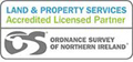 Ordnance Survey of Northern Ireland Land and Property Services Licensed Partner logo